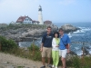 With Mom and Dad in Maine