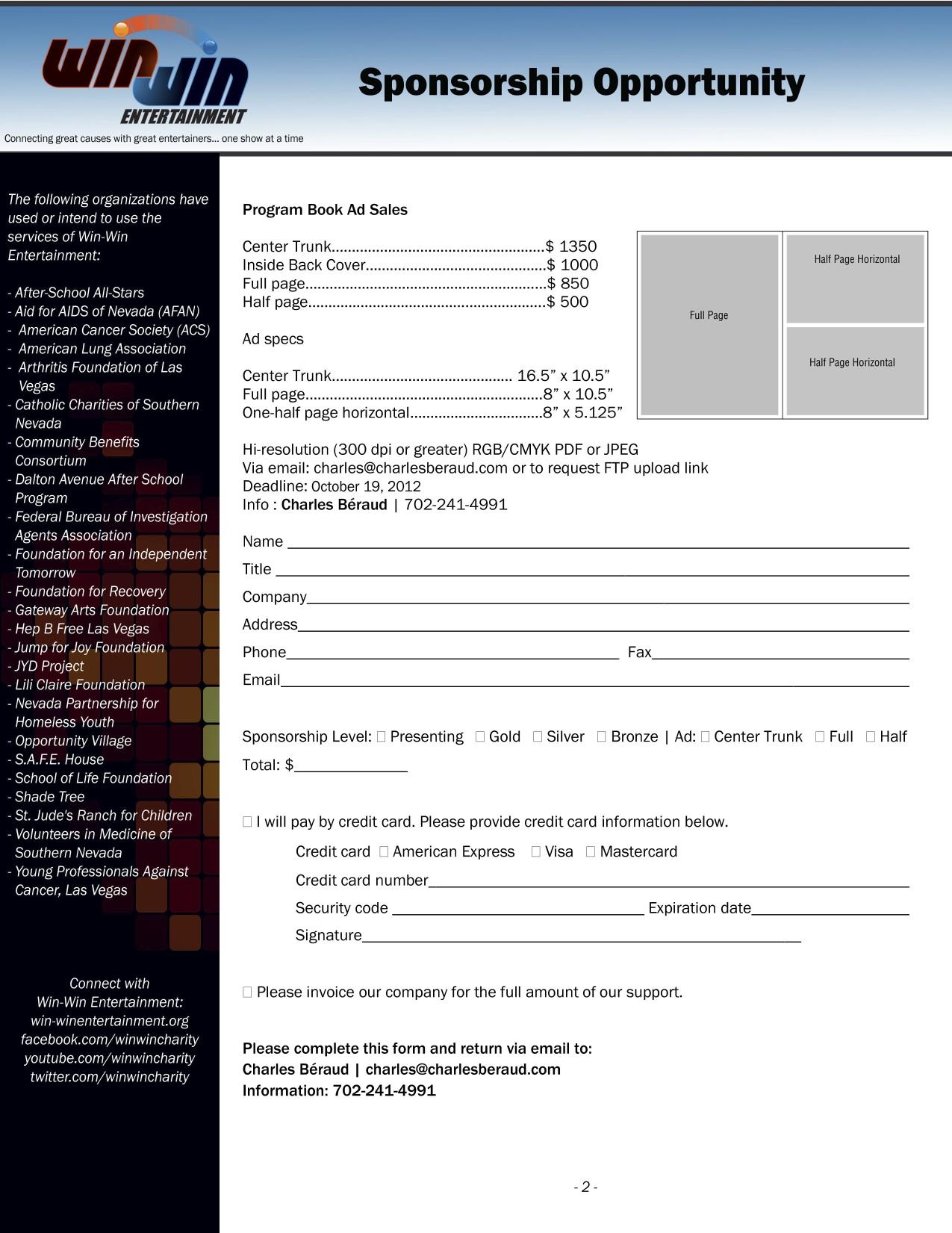 Win-Win Sponsorship Deck Page 2